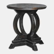 Uttermost 25630 Maiva - 70cm Accent Table, Black Finish