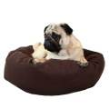 60cm Chocolate Microsuede Donut Pet Bed