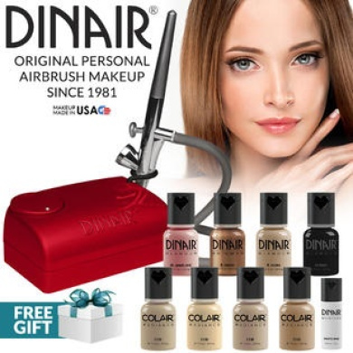 Dinair Airbrush Makeup Kit Personal Pro Medium Shades