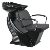 Black Shampoo Backwash Chair Barber Bowl Salon Spa Facial W1