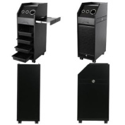Beauty Equipment Black Salon Colour Trolleys with Sliding Doors 4 x TR-37BLK