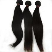Lanova Beauty 100% Unprocessed Virgin Malaysian Hair Silky Straight Natural Hair Extensions 3Pcs/Lot Size:46cm 50cm