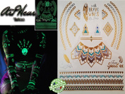 "Temporary Tattoo ""Jewels Tattoo Phosphorescent N°2.5cm - ArtWear Tattoo Glow in the Dark - BTB0007 M"