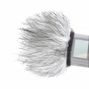 Movo WS9 Furry Outdoor Microphone Windscreen Muff for Portable Digital Recorders up to 8cm X 4cm (W x D) - Fits the Zoom H4n, H5, H6, Tascam DR-40, DR-05, DR-07 & Similar Recorders
