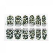 Lady 12 Pcs Leopard Printed Bling Nail Wrap Foils Art Sticker Decorative Decals