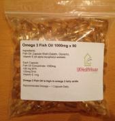UK Health House Omega-3 Fish Oil - 1000mg x 90 - High Strength