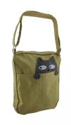 Sleepyville Critters Peeking Cat Canvas Crossbody Bag