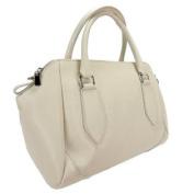 H & S Collection 5198-61 AV SASHA Ivory Structured Sacthel/ Shoulder Bag