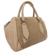 HS 5198-56 BG SASHA Made in Italy Beige Structured Leather Sacthel/ Shoulder Bag