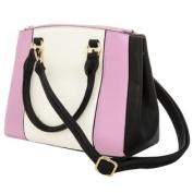 Martha Two-Tone Woman's Satchel Bag /w Adjustable Shoulder Strap