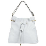 Quinn Woman's Bucket Bag with Gold Loop Pull Strap
