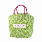 Chit Chat Patterned Jute Tote Bag with Sentiment