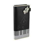 Black Piano Keys and Music Symbols Print Wallet