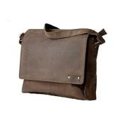 Handolederco. Leather Messenger Laptop Satchel Men's Bag Unisex Leather Satchel Flapover Shoulder Bag for Laptop