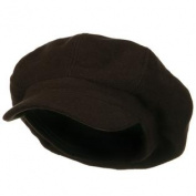 Big Size Melton Wool Newsboy Cap - Brown 2XL-3XL W08S48F