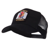 Veteran Embroidered Military Patched Mesh Cap - Vietnam Vet W43S61F