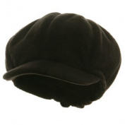 Big Size Fleece Winter Newsboy Cap - Black 2XL-3XL W07S39E
