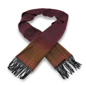 Ombre Wine Luxury Cashmere Feel Scarf w/Fringe