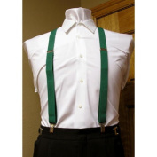 Forest / Hunter Green Suspenders set 2.5cm Men's X Back Clip Spencer J's