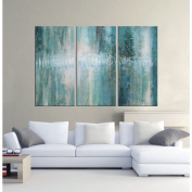 'Abstract 190m Hand-painted Oil Gallery-wrapped Canvas Art Set