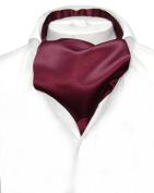 ASCOT Solid BURGUNDY Colour Cravat Men's Neck Tie