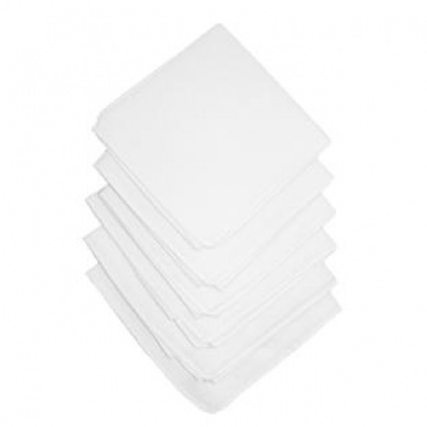 Unisex Cotton White Handkerchiefs (Pack of 6)
