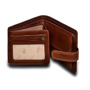 Visconti Archimedes DRW30 Mens Trifold ID Leather Wallet (Oak Tan) 4.7 x 3.75