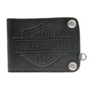 Harley-Davidson Men's Easy Money Embossed B & S Bi-Fold Wallet HDMWA10972-BLK