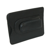 Mens Leather Credit Card Holder and Money Clip