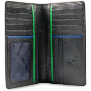 Visconti Jaws BD12 Black Leather Tall Chequebook Wallet 4 x 6.5
