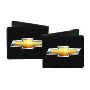 Chevrolet Automobile Company Metallic Bowtie Logo Bi-Fold Wallets