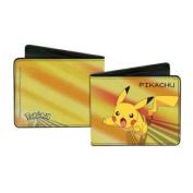 Pokemon Animated TV Series Pikachu Gold Bi-Fold Wallets