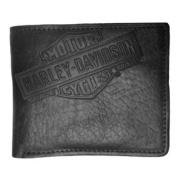 Harley-Davidson Mens American Bison Classic Billfold Wallet, Black US1808L-BLK