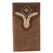 Western Wallet Mens Rodeo Lacing Diamond Medium Brown N5427144