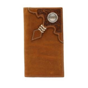 Western Wallet Mens Rodeo Rawhide Knot Floral Aged Bark A3524444