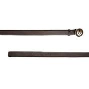 BELSTAFF Women's Black Brown Leather Plate Belt 759097 Sz 80cm $375 NWT