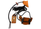 Quality Archery Leather Saddle Stringer, And BowTip Protector.