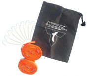 TALBOT TORRO Speed Badminton Court Lines in Blister Playing Field Marking, Fluorescent Orange, 490185
