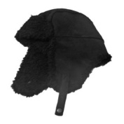 Fownes Womens Black Faux Suede & Sherpa Trapper Hat Aviator