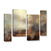 ArtWall Philip Straub 'Before The Rain' 4 Piece Gallery-wrapped Canvas Staggered Set