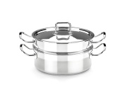 BRA Profesional - Steaming set with lid, 20 cm, 18/10 stainless steel