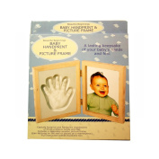 Baby Handprint & Footprint Wooden Picture Frame - Great Gift Set!