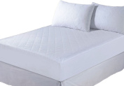 Papa Jones Ltd QUALITY 1.2mFITTED QUILTED MATTRESS PROTECTOR WHITE BED COVER