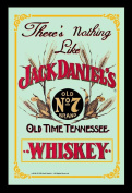 Empire Merchandising 537676 Printed Mirror with Plastic Frame with Wood Effect Featuring Retro Jack Daniel's Whiskey Advertisement 20 x 30 cm