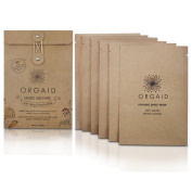 Face Mask by ORGAID, Cotton Sheet Mask Works Like Anti Ageing Cream And Mature Skin Moisturiser, Reducing Wrinkles, Completely Natural and Organic. 24ml