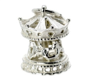 CLASSIC DESIGNS Sterling Silver 925 Moving Carousel Charm N238
