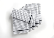 A Pack Of Six Large Heavy Duty Egyptian Cotton Terry Tea Towels in Black