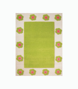 Little Helper 80 x 150cm IVI Exclusive Hypoallergenic 3D Embossed Rug with Flower Patch Theme