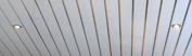 Bathroom Ceiling Panels - White with Silver Highlights