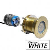 Bluefin LED Mako M12 - 24V Through Hull Underwater Light 6K Lumens Interchangeable Flush Mount - Diamond White